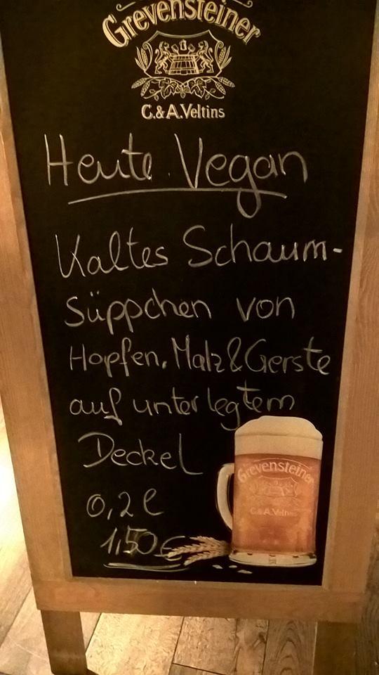 Bier Tafel mit Angebot